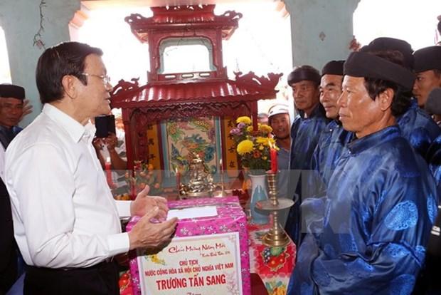 President visits Quang Ngai's Ly Son island district hinh anh 1