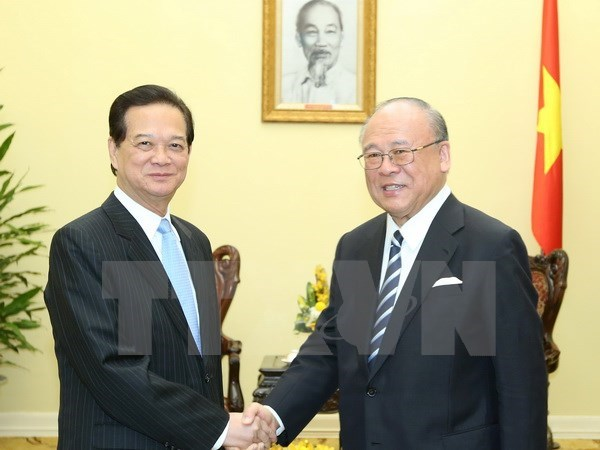 PM hosts advisor to Japan-Vietnam parliamentary alliance hinh anh 1