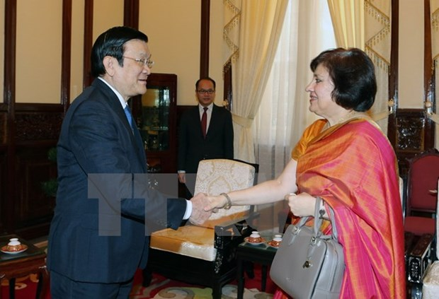 State leader bids farewell to Indian Ambassador hinh anh 1
