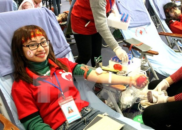 Blood donation festival kicks off in Hanoi hinh anh 1