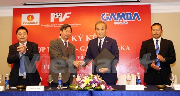 Local football talent fund inks deal with Gamba Osaka hinh anh 1