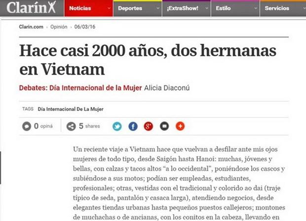 Vietnamese women spotlighted on Argentine media hinh anh 1