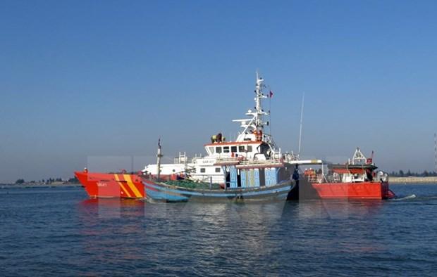 Five fishermen aboard sunken boat rescued hinh anh 1