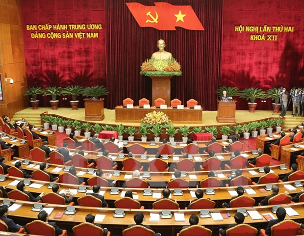 Party Central Committee closes second meeting hinh anh 1