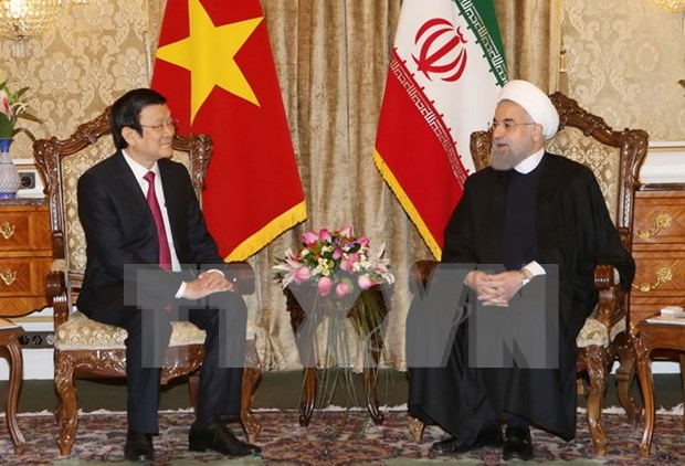 Vietnamese, Iranian Presidents hold talks hinh anh 1