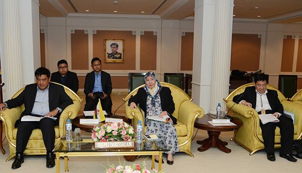Brunei, Singapore reinforce defense cooperation hinh anh 1