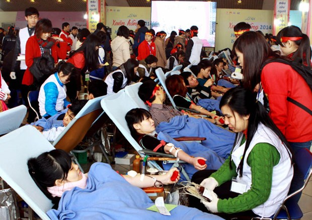 120,000 units of blood from donors expected in April hinh anh 1