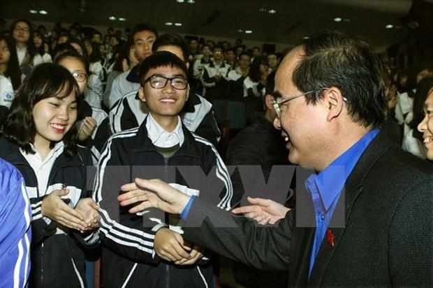 Youth dialogue celebrates upcoming NA election hinh anh 1