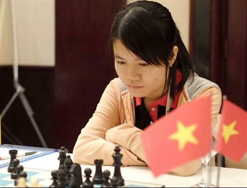 Vietnam women's team beat Iran to lead Asian Chess Cup hinh anh 1