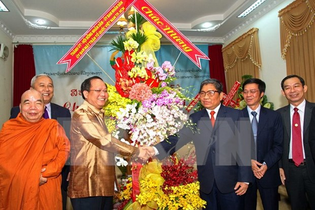 HCM City congratulates Lao, Cambodia on traditional New Year hinh anh 1