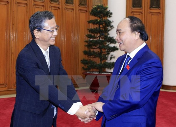Japanese ambassador –first guest of new gov't welcomed hinh anh 1
