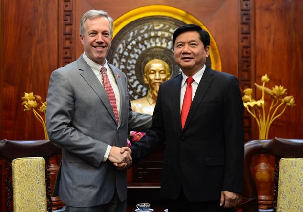 HCM City leader calls for US assistance in climate change response hinh anh 1