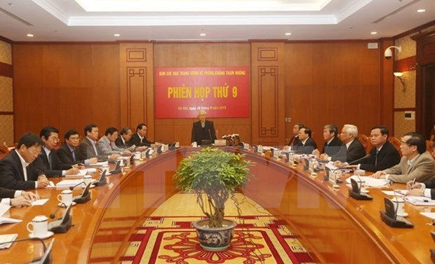 Party chief chairs meeting on anti-corruption hinh anh 1