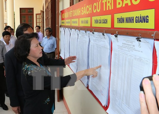 Top legislator inspects preparations for election in Hai Duong hinh anh 1