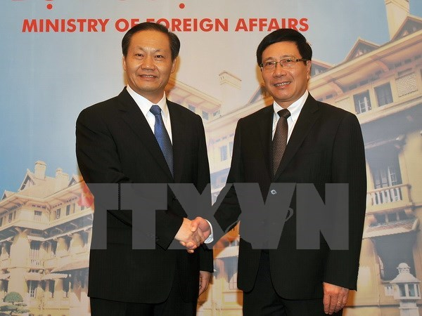 Deputy PM meets Party chief of Guangxi Zhuang autonomous region hinh anh 1