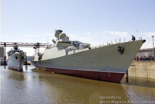 Vietnam launches Russian-made frigate hinh anh 1