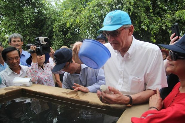 UN Deputy Secretary General inspects Ben Tre's drought losses hinh anh 1