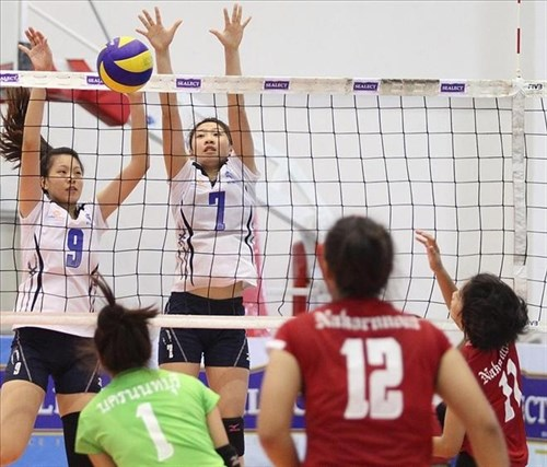 Lien Viet Postbank second at Thai volleyball open hinh anh 1