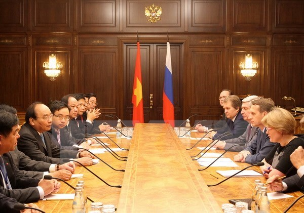 PM visits Russia's Zarubezhneft oil and gas group hinh anh 1