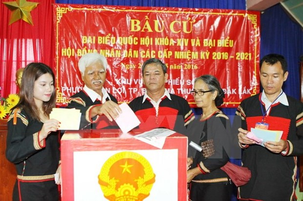 Voters nationwide enthusiastic with vote casting hinh anh 1