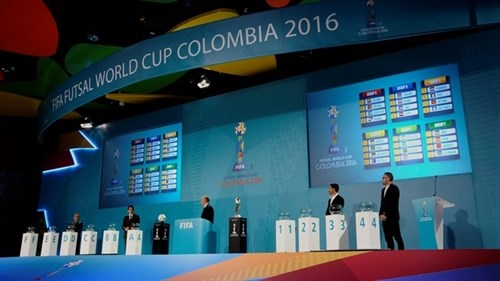Vietnam drawn in Group C of 2016 FIFA Futsal World Cup hinh anh 1