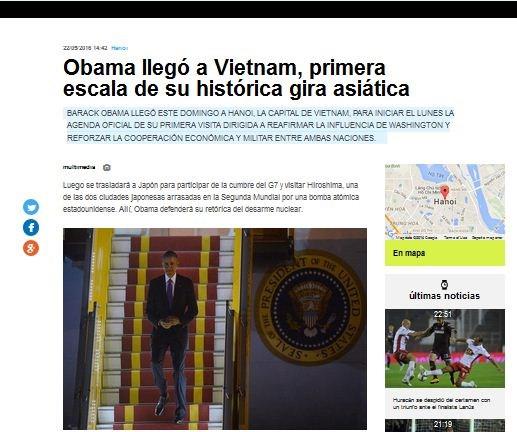Argentine, Italian press highlight Obama's Vietnam visit hinh anh 1