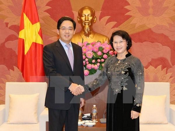 NA Chairwoman meets Chinese Ambassador hinh anh 1