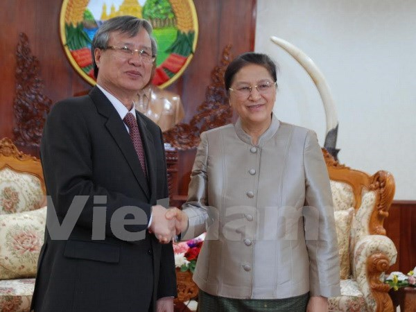 Party Inspection Commission head welcomed in Laos hinh anh 1