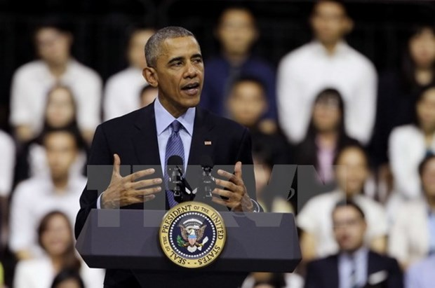 President Obama meets young people in HCM City hinh anh 1