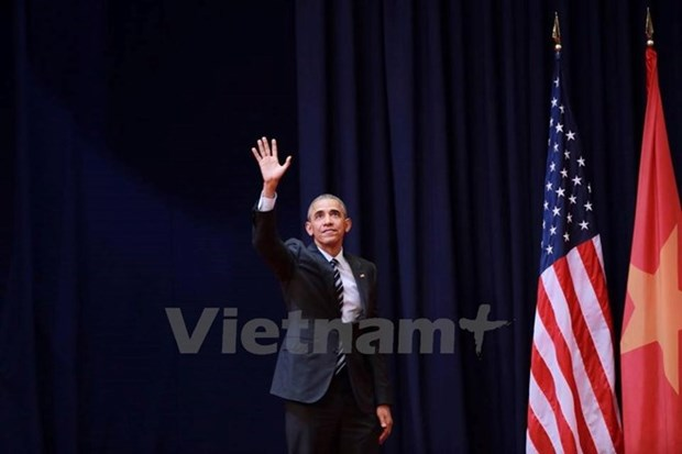 US President wraps up Vietnam visit hinh anh 1