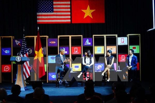 US President praises Vietnam's entrepreneurial spirit hinh anh 1