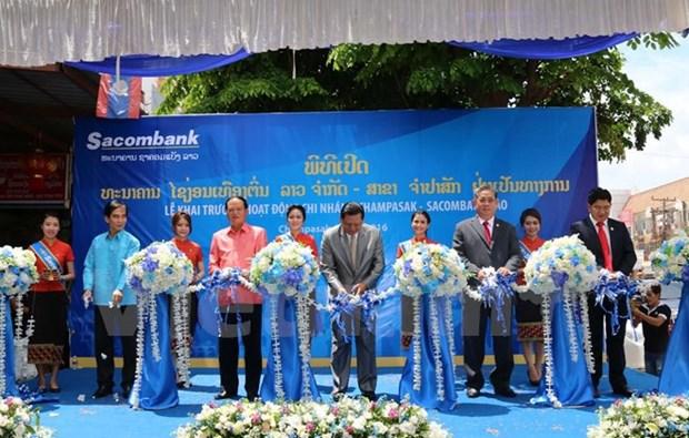 Sacombank Laos inaugurates branch in Champasak hinh anh 1