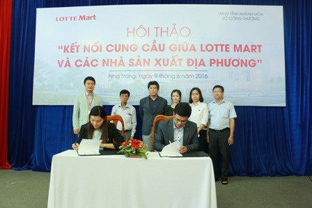 Lotte Mart to buy more products from Khanh Hoa-based producers hinh anh 1
