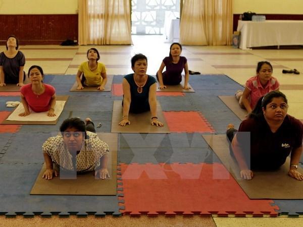 Da Nang programme responds to Int'l Yoga Day hinh anh 1