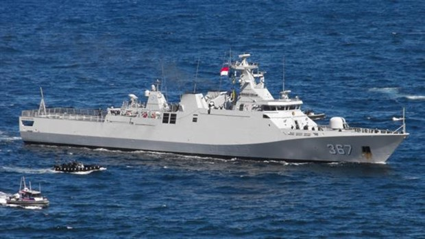 Indonesia detains Chinese boat for illegal fishing hinh anh 1