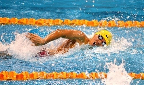 Vietnamese swimmer wins gold in Budapest competition hinh anh 1