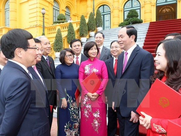 State leader meets new heads of diplomatic missions abroad hinh anh 1