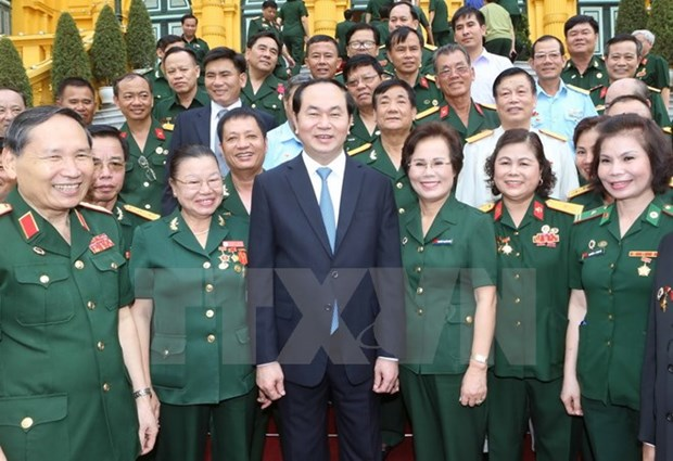 State leader meets outstanding veteran entrepreneurs hinh anh 1
