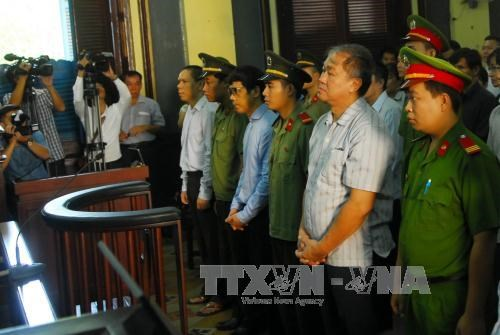 First instance trial held for former Construction Bank officials hinh anh 1