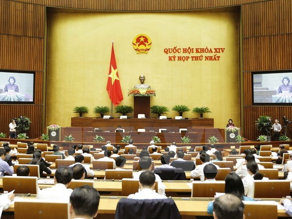 First session of 14th National Assembly opens hinh anh 1