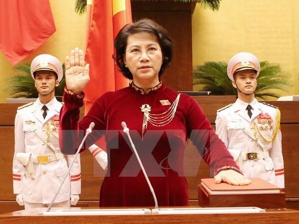 Nguyen Thi Kim Ngan re-elected as 14th NA Chairwoman hinh anh 1