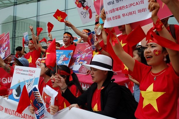 Overseas Vietnamese in RoK protests China's illegal acts in East Sea hinh anh 1