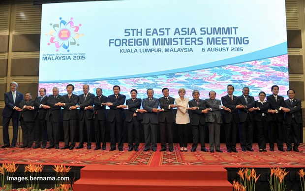 East Asia Summit foreign ministers meet in Laos hinh anh 1