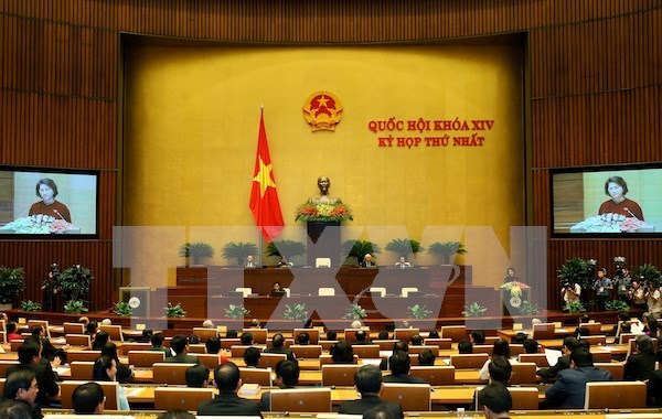 14th NA's first session focuses personnel work hinh anh 1