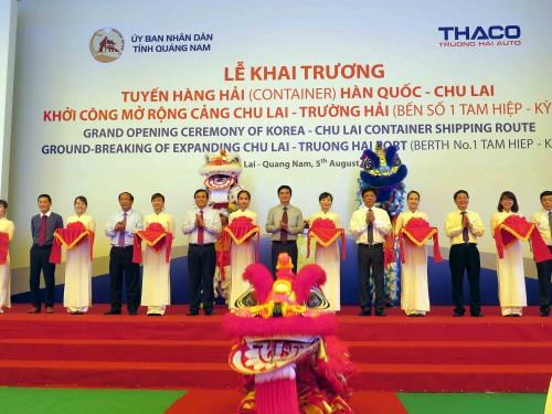 New international container shipping route opens in Quang Nam hinh anh 1
