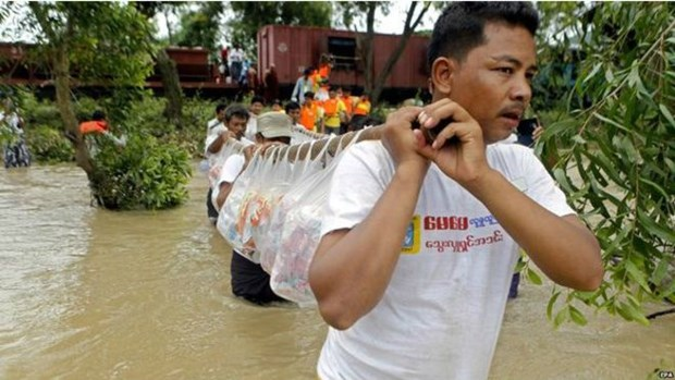 Myanmar prolonged flooding kills six, affects thousands hinh anh 1