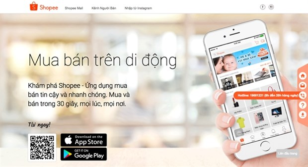 New customer shopping platform Shopee launched hinh anh 1