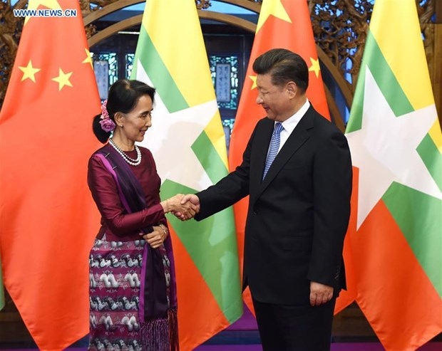 Chinese President meets Myanmar State Counsellor hinh anh 1