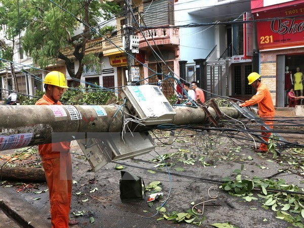 Northern provinces recover from tropical storm hinh anh 1