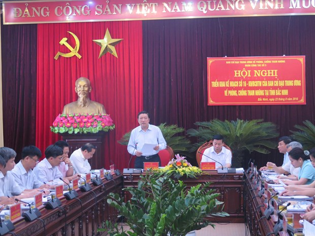 Party official inspects anti-corruption in Bac Ninh hinh anh 1